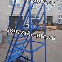 Передвижные лестницы, подкатные лестницы c платформой