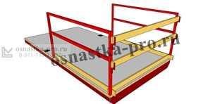Выносные площадки для каменщиков: грузоприемные строительные площадки - изготовление