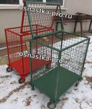 Фотографии контейнеров сетчатых на колесах