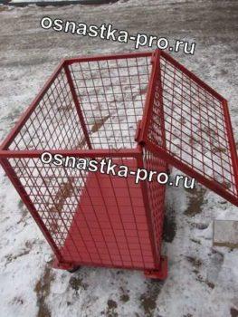 Контейнеры для макулатуры сетчатые на колесах