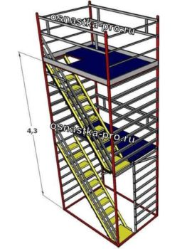 Вышки с лестницами - вышки модульные с лестницами