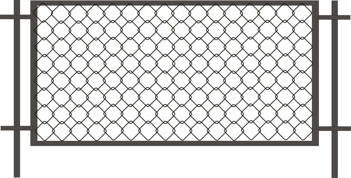 Секционный забор из рабицы цена Санкт-Петербург