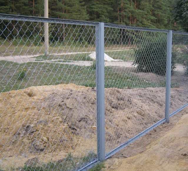 секционный забор из рабицы цена с установкой