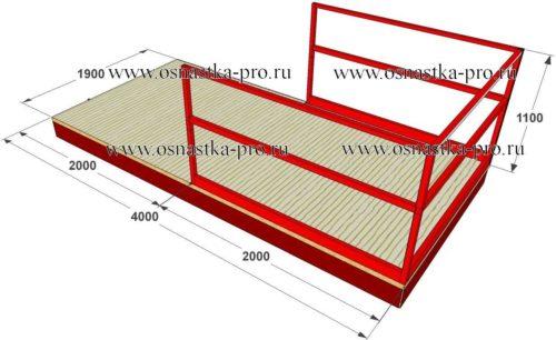 Выносные площадки для каменщиков строительные для приема груза