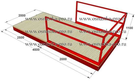 Выносная площадка 2,5т -ВП-2 K-1.3, К-1.4