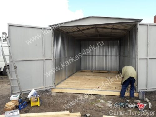 Каркасный гараж схема постройки