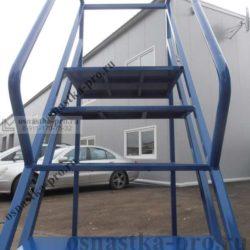 лестница для склада с площадкой