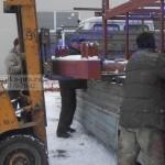 транспортировка площадок каменщика