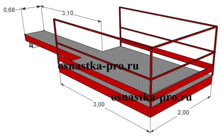 Выносная площадка 2,5т для балконных проемов- ВП-2ТВ