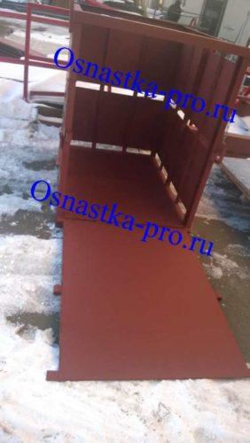 Ограждение для поддона с кирпича на стройку