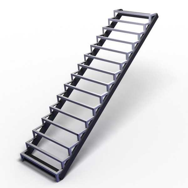 Лестницы металлические уличные изготовление, монтаж