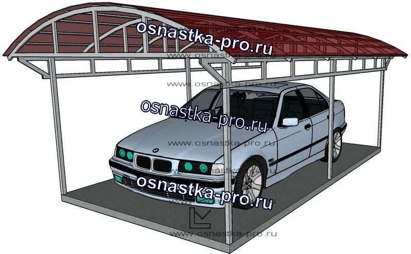 Изготовление навесов для автомобиля из поликарбоната: цены, установка. Производство - Санкт-Петербург