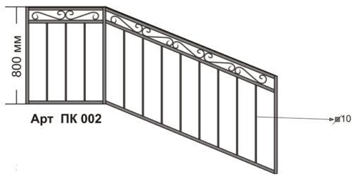 перила для лестничных маршей жилых домов