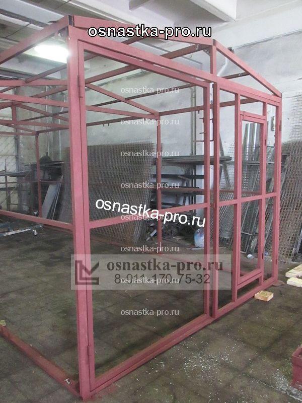 Каркас гаража из металлического профиля