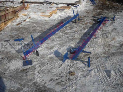 элемент вышки-туры: колесные пары с фиксаторами
